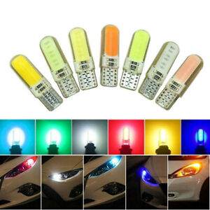 T10 W5W 194 COB Silica LED Car Interior Door License Plate Light Wedge Bulb