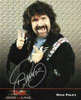 TNA MICK FOLEY HAND SIGNED AUTOGRAPHED 8X10 PROMO PHOTO WITH COA