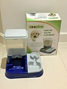Pet Dog Cat Food & Water Dispenser Gravity Feeder 5 Litre ZOOPLUS 37x32x36cm