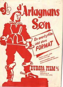 Il Figlio Di D'Artagnan Carlo Ninchi Gianna M C 1950 Danish Movie Press Release