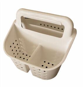 Room Essentials Bath Shower Caddy   White   Plastic Organizer   Clean   New