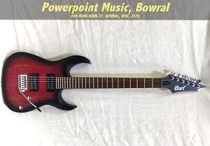 Cort X100 Electric Guitar - Open Pore Black Cherry Burst