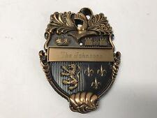 """Vintage Cavalier Knight Door Plaque Knocker """"The Johnsons"""" Made in Usa"""
