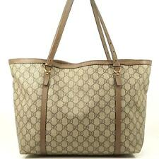 Auth Gucci Gg Tote Shoulder Bag Brown #3466G15