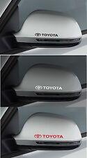 Para Toyota 2 X Ala Espejo Coche Decal Sticker Adhesivo-Supra Celica 100mm de largo