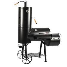Smoker Grill Grillwagen BBQ Räucherofen Räuchertonne Grilltonne B-Ware Barbecue