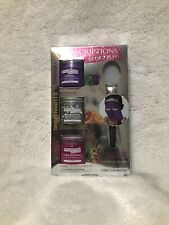 SpaScriptions BEDAZZLED Glitter Peel-off Mask 3 Pack w Applicator New In Box