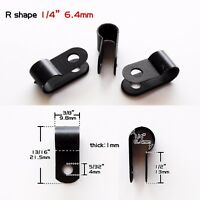 """25pcs Black Nylon 1/4"""" Cable Clamp UV Resistant Wire Electrical Organizer Fixer"""