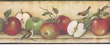 Apples Across the Shelf with Birds Wallpaper Border MN5014
