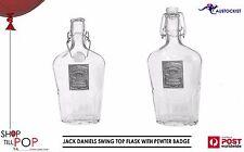 Jack Daniels Vintage 1980's Ceramic Swing top Bottle Decanter Pewter badge 500ml