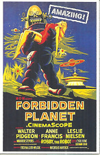 FORBIDDEN PLANET - MAGNET - ROBBY THE ROBOT - MOVIE POSTER REPRODUCTION