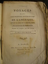 Thomas ANBUREY : VOYAGES dans les parties intérieures de l'Amérique 1792