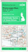 Ordnance Survey Pathfinder Map 1181 Weston-super-Mare - Sheet ST 26/36
