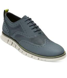 COLE HAAN Mens ZeroGrand No Stitch Wingtip Oxfords Lace Up Shoes, Ombre Blue NWT