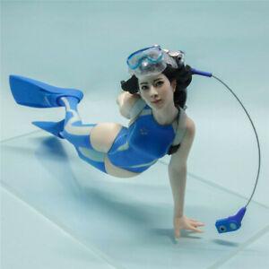 Unassembled KAIYODO Diver Girl Garage Model Kit 1/10 Resin Unpainted Figure Toy