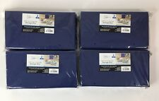 Lot of 8 Mainstays Collapsible Storage Bins Half-Size Color Stadium Blue