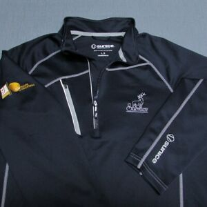 SUNICE POLY SPANDEX  1/4 ZIP GOLF PULLOVER--L--the SANCYUARY--PERFECT!!--MINT!