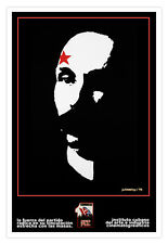 Cuban Political Poster.Communist Party CONGRESS. Marti.History Graphic Design