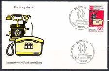 Germany Berlin 1977 FDC cover Mi 549 Sc 9N409 Telephones