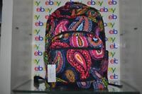 Vera Bradley Essential Large Backpack 23672-KO1 Twilight Paisley Cotton NWT
