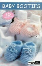 Baby Booties to Knit & Crochet 10 Projects Leisure Arts Little Books 75019