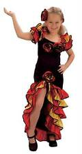 Rumba Girl (M) ,Spanish,Spain,Girls,Medium Fancy Dress Costume, Kids Book Week