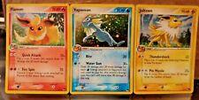 Pokemon Pop Series 3 Eevee Evolutions Vaporeon Jolteon and Flareon Lp- Nm