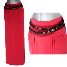 PHILOSOPHY DI ALBERTA FERRETTI Raspberry Red Embellished Maxi Skirt UK 10  £345