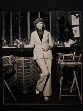 70s Fashion VINTAGE DBW Oversize PHOTO Signed By Harry Langdon OS65