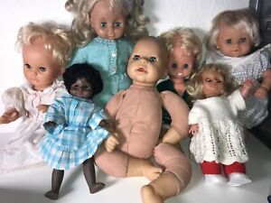 Vintage Baby Dolls Lot Including Zapf And Jesmar (See Description