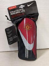 Nike Mercurial Lite Manchester United Fc 2013 - 2014 Shin Guard Slip Shield Red