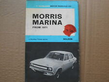 MORRIS MARINA 1300, 1800 1971-ON INSTRUCTION HANDBOOK