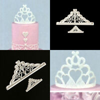 2pcs Crown Plastic Fondant Cutter Cake Mold Fondant Cupcake Decorating Tools Kit