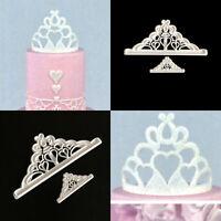 2pcs Crown Cutter Plastic Fondant Cake Mold Cupcake Decorating Tools DIY HOTSALE