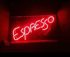 "24"" Long, 13"" Tall Espresso Coffee Cafe Restaurant Bar Vintage Neon Lighted Sign"