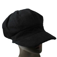 3065695788b Newsboys Hat Cap Cabbie Black Hat Cap One Size Fit Cabbie 6 Panel Beret 1sz  Fit