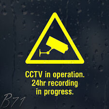 CCTV In Operation 24hours Vinyl Sticker For Shops Pubs Hotels Cafes Offices Bars