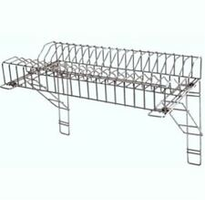 "Stainless Steel Plate Rack & 2 Wall Brackets 36"" / 91cm for Catering Kitchens"