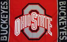 3' X 5' OHIO STATE BUCKEYES polyester flag w/ grommets. Banner Sign Display