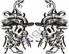 2x skull sticker Motorcycle Gas Tank car bumper decal 5