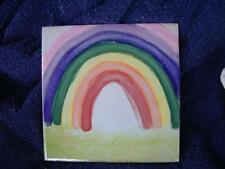 Colorful Rainbow Decorative Tile Handmade Reduced Price!