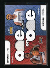 ELTON BRAND/ KENYON MARTIN 2008/09 08/09 UD SKYBOX ONE ON ONE DUAL JERSEY AD8205