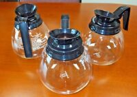 Lot of 3 ~ Coffee Pot/Decanter/Carafe ~ Black 64 oz for Commercial BUNN Machines