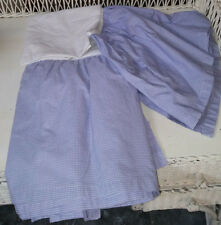 The Land Of Nod Lavender And White Gingham Twin Bed Skirt-Gently Used