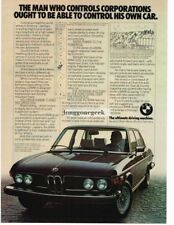 1976 BMW Black 3.0si For the man who controls corporations Vtg Print Ad