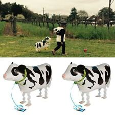 Mylar Animal Pet Wedding Walking Baby Foil Balloon Birthday Party Cow Shaped