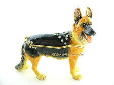 German Shepherd Dog Bejeweled Trinket Box