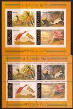 TANZANIA 1986 BIRDS SC # 309a-309b MNH