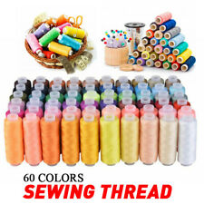 60 Spools Mixed Colors 100% Polyester Sewing Quilting Threads Sets Kits