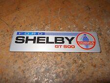 FORD SHELBY COBRA GT500 GT-500 DASH INTAKE FENDER TRUNK DECKLID PLAQUE EMBLEM